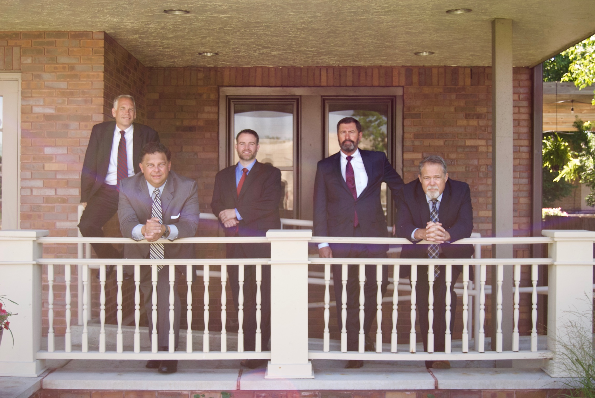 Goodin Abernathy Partners on Front Porch of Office - Indanapolis Attorney Firm